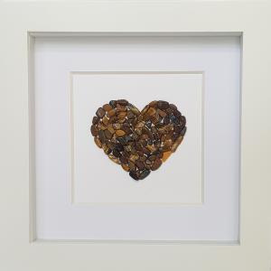 Natural Tigers Eye Stone Heart - Brown