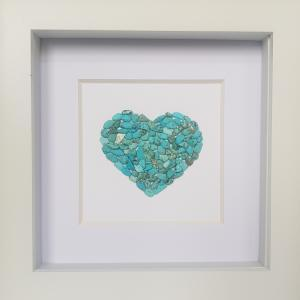 Turquoise Natural Stone Heart