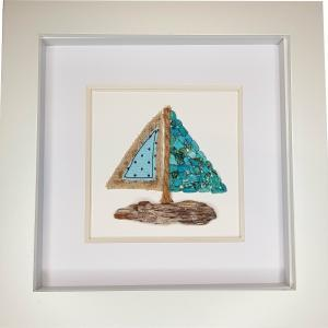 Sailboat - Natural Stone Art